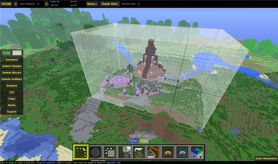 MCEdit для Minecraft 1.5.2, 1.6.4, 1.7.2, 1.8 и 1.8.1.