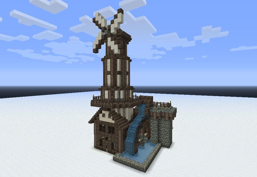 Средневековые здания в стиле MineZ
