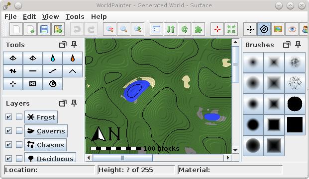 WorldPainter - программа для создания карт в Minecraft