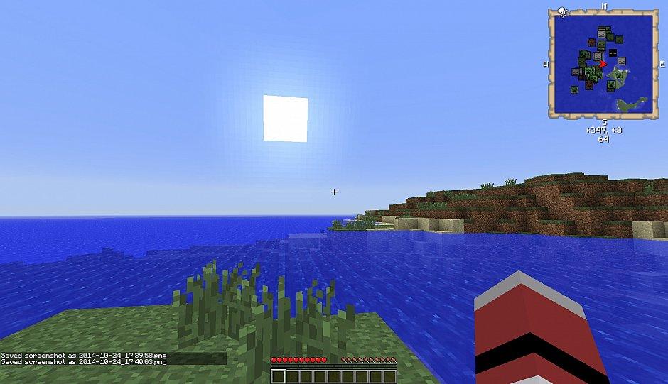 Как сделать скриншот в Minecraft (версия 1.5.2)
