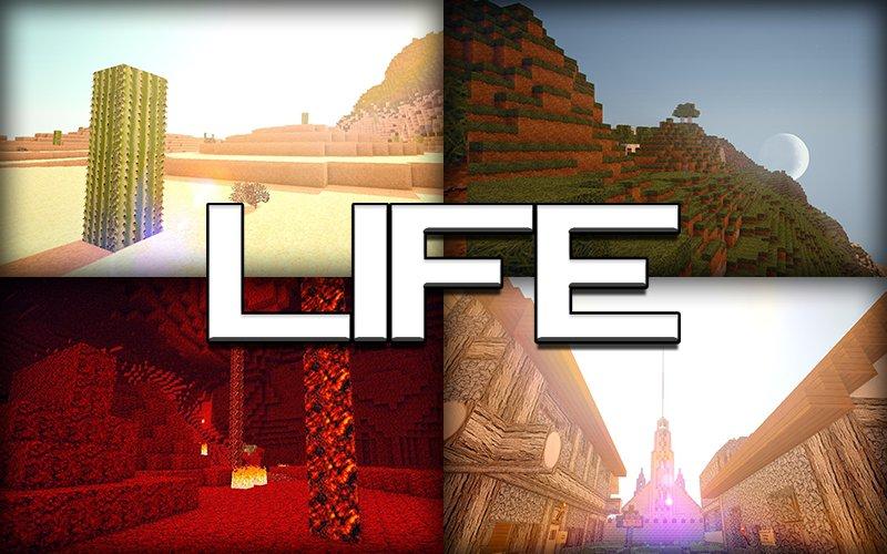 Life HD пакет ресурсов для 1.8