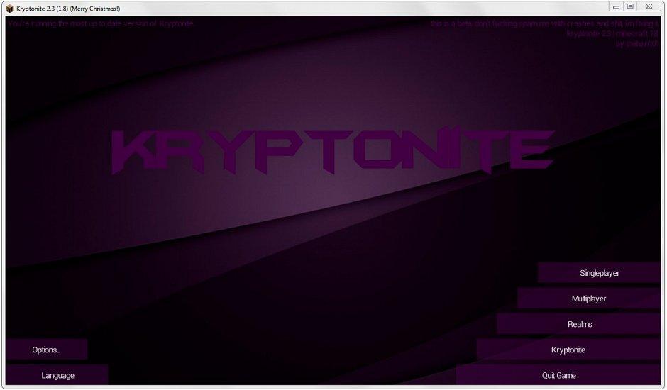 Читы Kryptonite (с OptiFine) для 1.8 - 1.8.1