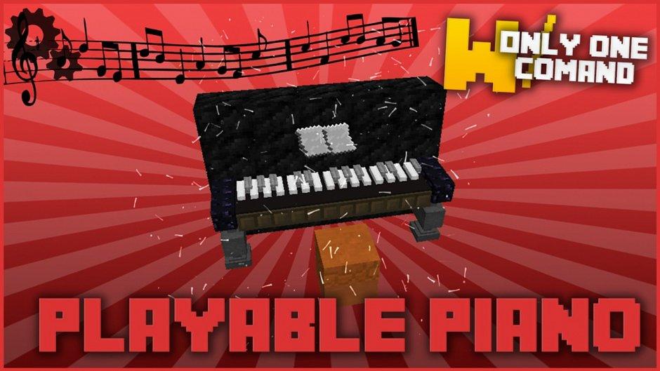 Пианино в ванильном Minecraft