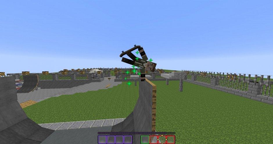 Скейтборд в ванильном Minecraft