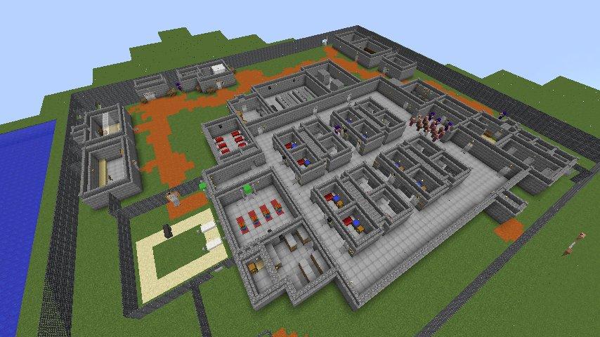 Карту для майнкрафт тюрьма на выживание