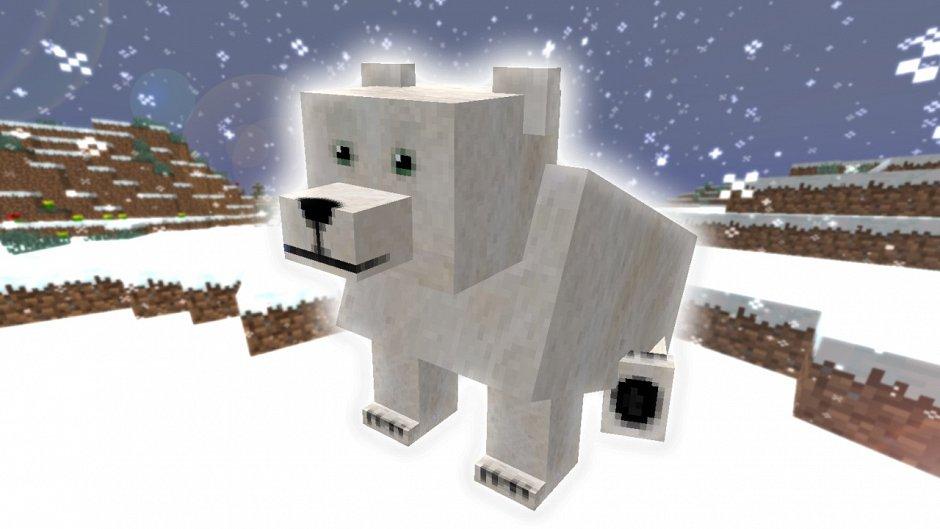 Полярный медведь в ванильном Minecraft