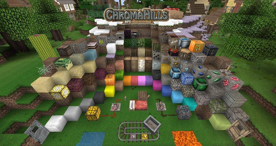 Chroma Hills RPG - ресурс-пак для Minecraft 1.9