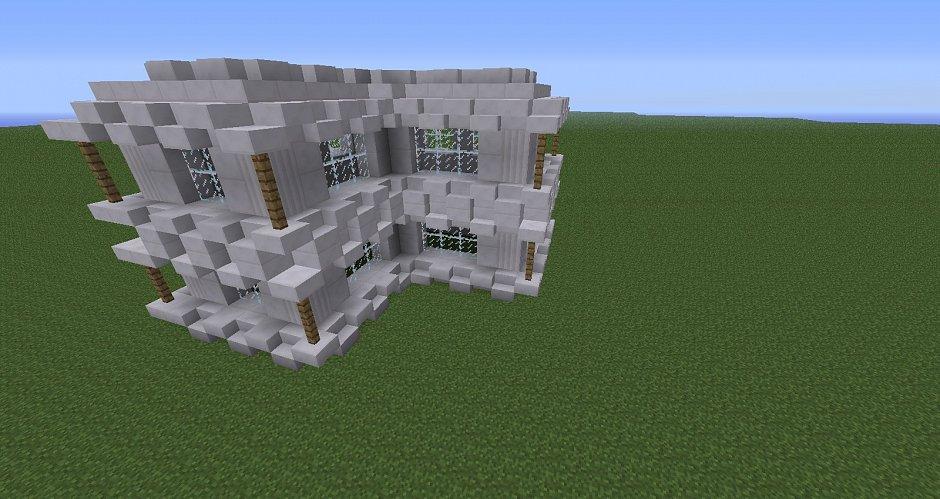 Построил дом и кварца.