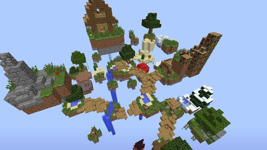 карта летающие острава для майнкрафт 1.7.2 #4