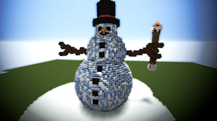 Mega Winter Snowman Build — Мега снеговик
