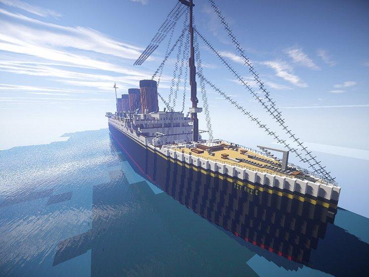 "Проект ""Титаник"" в Minecraft."