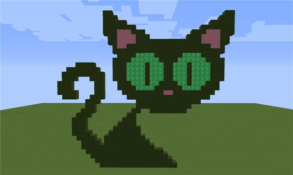 Кошка из зеленой шерсти