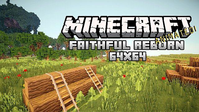 Текстур-пак FaithFul на версии 1.8 с разрешением 64х64