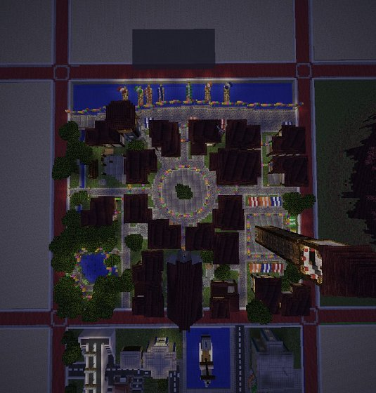 Карту summertown для minecraft