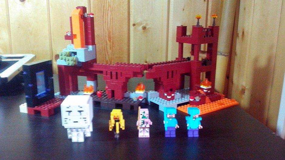 Лего майнкрафт инструкция по сборке номер набора 21110