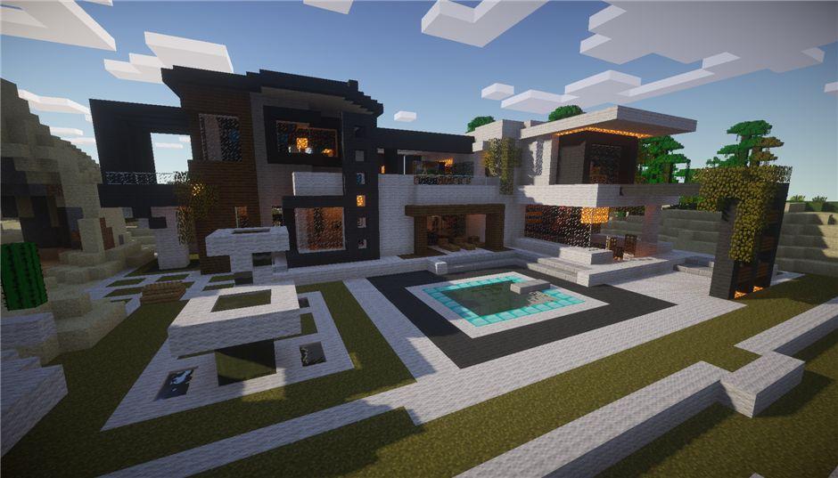 Современный особняк (10 номеров + 6 бассейнов). Красивый дом