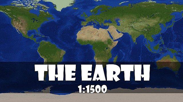 скачать карту для minecraft планета земля